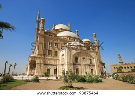 Mohammed Ali Basha Mosquean, citadel of salah el din in Cairo,  Egypt - stock photo