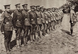 Mohawk Indians serving with the Canadian Corps on the Western Front in WW1. 1914-18.