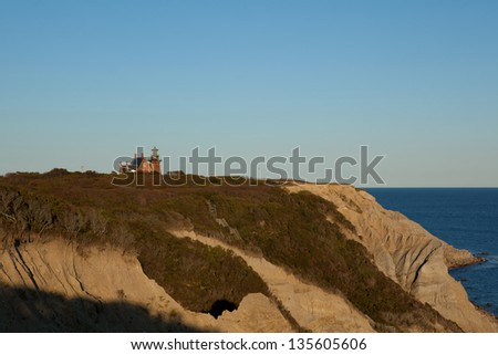 Mohegan Bluffs and the Southeast Lighthouse on Block Island, Rhode Island