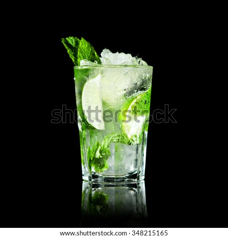 Mojito Cocktail on black background #348215165