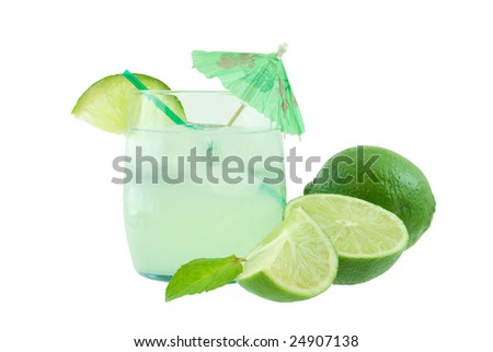 Mojito drink isolated on white