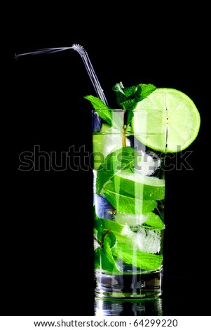 mojito isolated on black