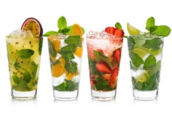 Mojito with fruits
