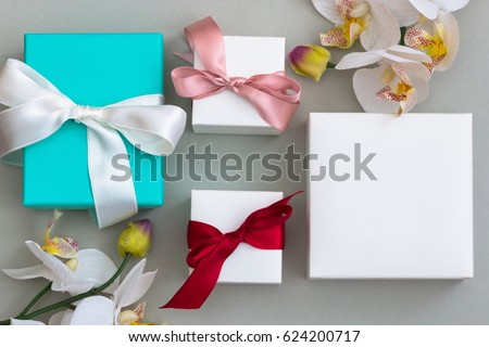 Moke up jewellery gift box. Jewelry present.  #624200717