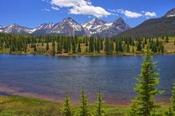 Molas Lake and Scenery along U.S. Highway 550 between Ouray and Durango, Colorado