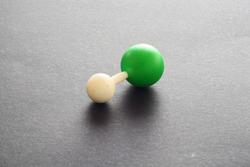 Molecular model in 3D, hydrochloric acid