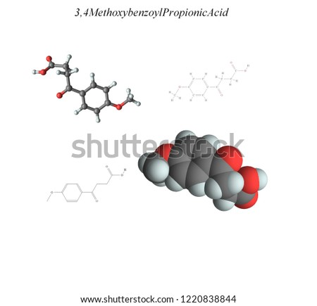 Molecular structure, 3D molecular plot and structure diagram, carboxylic acids