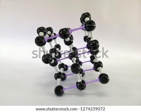 Molecular structure model of Graphite, Graphite model #1274239072