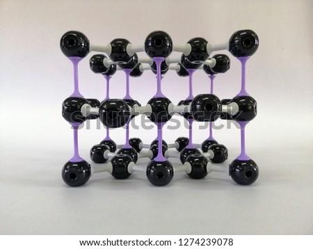 Molecular structure model of Graphite, Graphite model #1274239078