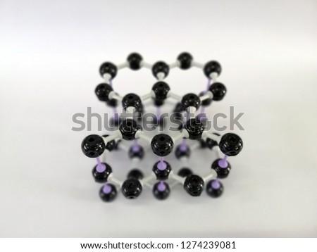 Molecular structure model of Graphite, Graphite model #1274239081