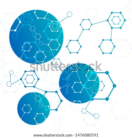 Molecular structure or molecular structural coding illustration. Molecular connection genome