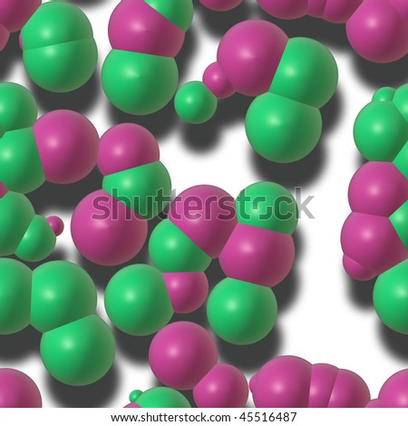 Molecule chemistry chemical atoms composition concept background illustration