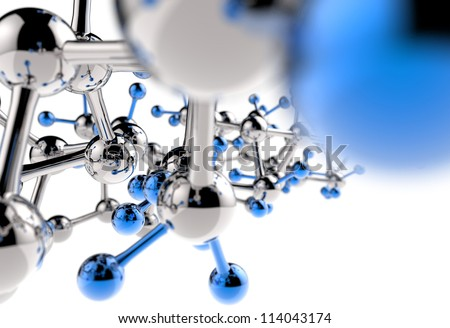 Molecule 3d background