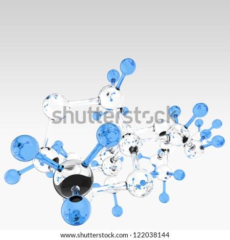 Molecule 3d background