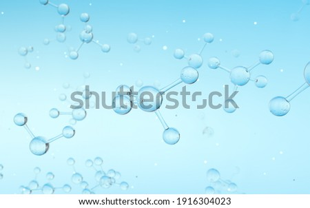 Molecule structure, biotechnology concept, 3d rendering.  Foto stock ©