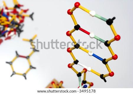 molecule structure close-up