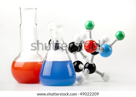 Molecules and flasks - chemical concept