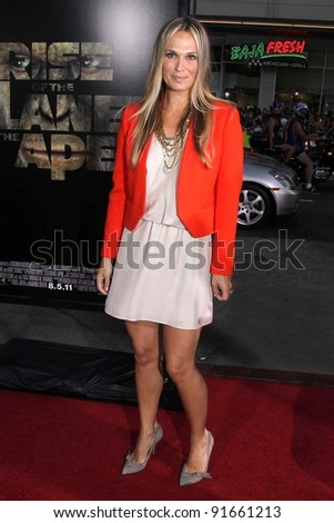 "Molly Sims at the ""Rise of the Planet of the Apes"" Los Angeles Premiere, Chinese Theater, Hollywood, CA. 07-28-11 - stock photo"