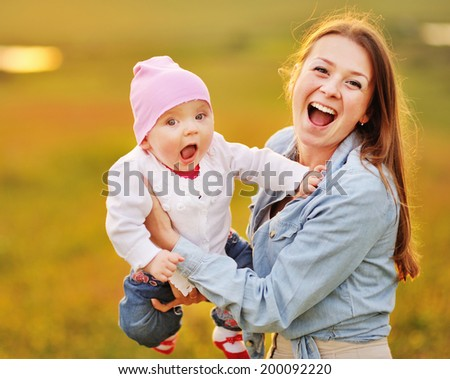 Happy family - Cute kid mom and dad