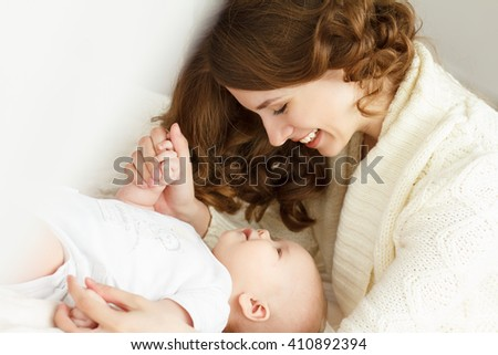 Mom and her newborn baby. Mother\'s day