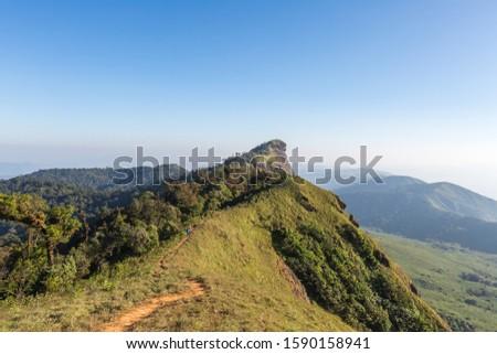 Mon Jong hill at Northern of Thailand Stockfoto ©