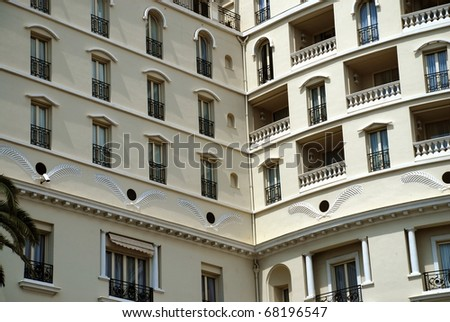Monaco apartments windows and balcony