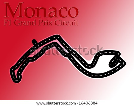 monaco grand prix track layout. stock photo : Monaco F1