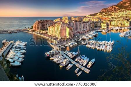 Monaco Fontvielle harbor #778026880