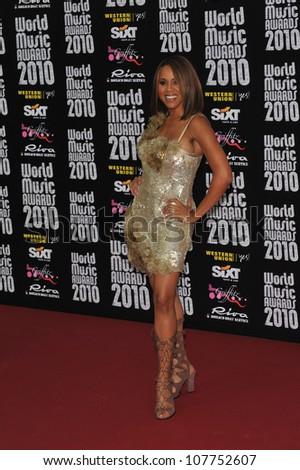 MONACO - MAY 18, 2010: Deborah Cox at the 2010 World Music Awards at the Monte Carlo Sporting Club, Monaco.