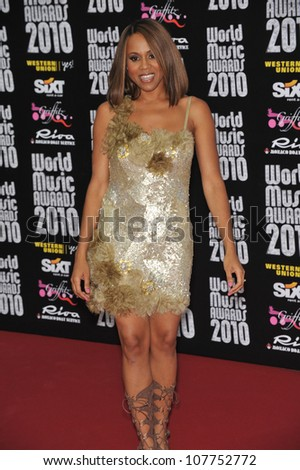 MONACO - MAY 18, 2010: Deborah Cox at the 2010 World Music Awards at the Monte Carlo Sporting Club, Monaco.