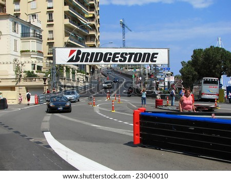 MONACO - MAY 20 : Monaco streets are ready for the 65Th F1 Grand Prix de Monaco May 20, 2007.