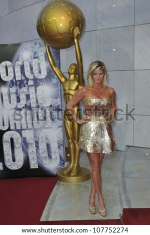 MONACO - MAY 18, 2010: Rachel Hunter at the 2010 World Music Awards at the Monte Carlo Sporting Club, Monaco.