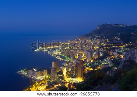 Monaco, Monte Carlo by night