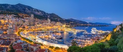 Monaco Port evening view