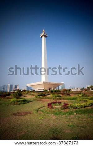 Monas monument in Jakarta, Indonesia