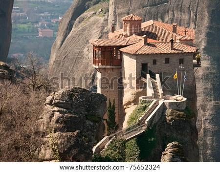 Monastery Agias Varvaras Roussanou , Meteora, Greece.