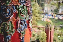 monastery art work on the pillar