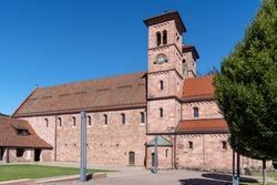 Monastery church in Klosterreichenbach, tourist attraction near Baiersbronn in the Black Forest, Germany