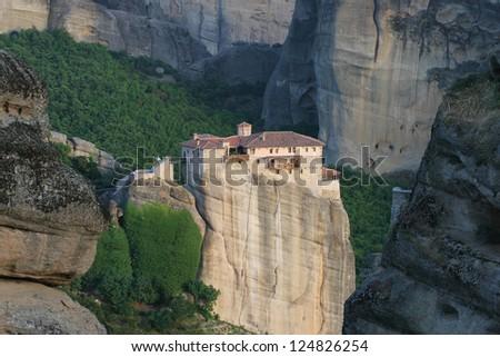 monastery in rocks of Meteora, Greece