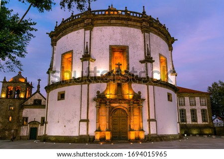 Monastery of Serra do Pilar in blue hour Foto stock ©