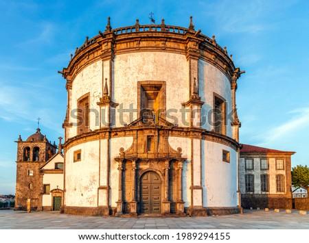 Monastery of Serra do Pilar in Vila Nova de Gaia by sunset, Porto District, Portugal Foto stock ©