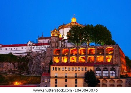 Monastery of Serra do Pilar is a former monastery located in Vila Nova de Gaia, opposite Porto city in Portugal Foto stock ©