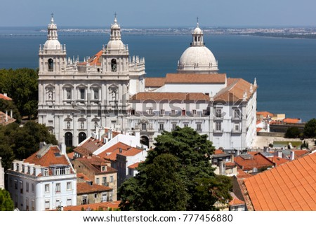 Monastery of St. Vincent Outside the Walls in Lisbon, Portugal, founded around 1147 by the first Portuguese King, Afonso Henriques, finished in the 18th century. #777456880
