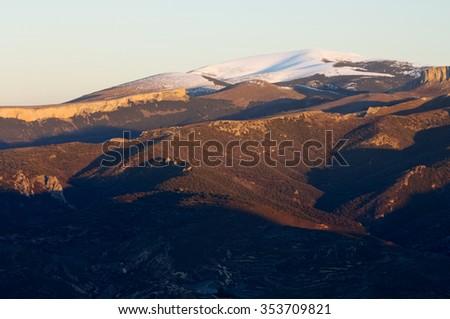 Moncayo summit, 2316 m., Moncayo Natural Park, Zaragoza, Aragon, Spain