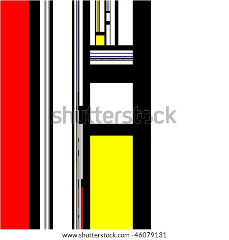 Mondrian abstract modern art design pattern background illustration
