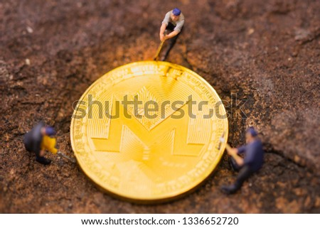 Monero mining pool on your devices with our dedicated mining software. Monero blockchain hard fork concept. GUI miner. bitcoin mining. #1336652720