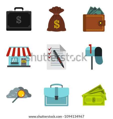 Monetary encouragement icons set. Cartoon set of 9 monetary encouragement icons for web isolated on white background