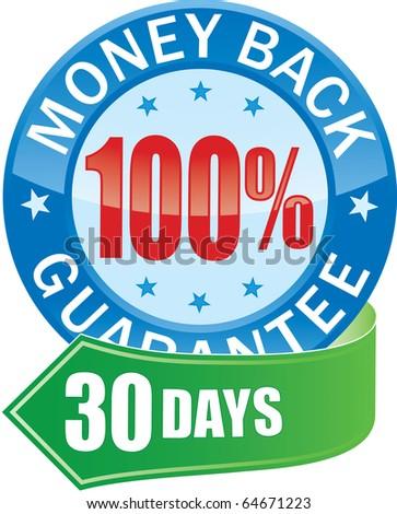 Money Back Guarantee Glossy Web Icon