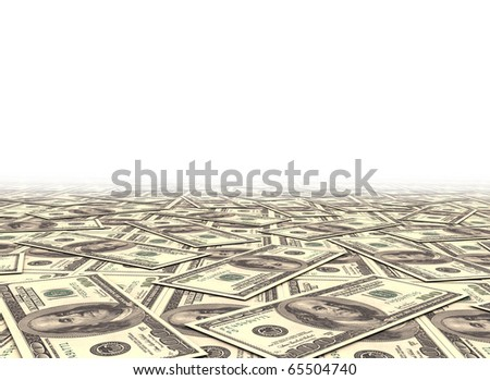 Money background dollar notes