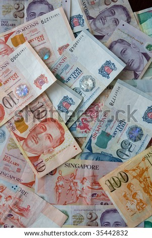 Singapore Dollar Picture on Stock Photo   Money Background From Various Nominal Singapore Dollars